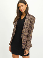 LOFTY MANNER BLAZER SILVIANA, OLIJFGROEN/ZWART