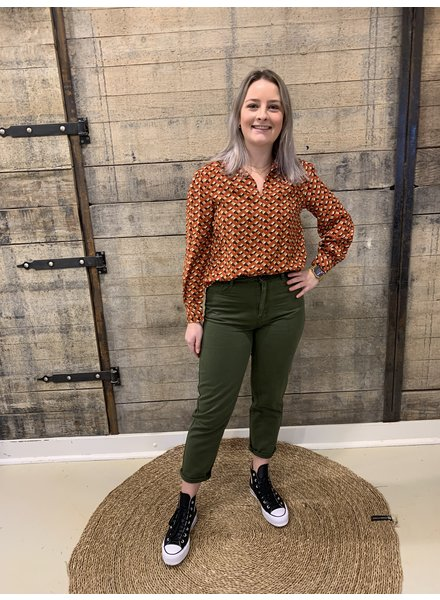 Turquoise, Mom jeans, Kaki