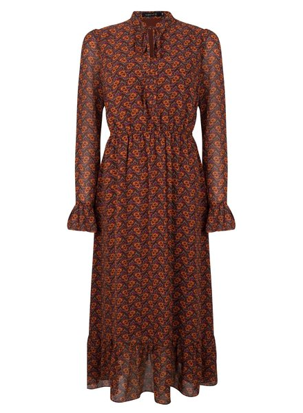 Ydence Ydence Dress Moni, Brown/orange