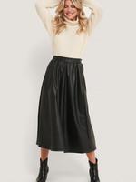 NA-KD Na-kd, Wide pu skirt, Black
