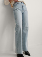 NA-KD BROEK RELAXED FULL LENGTH, DENIM BLAUW