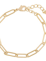 ARMBAND, STUCK  IN CHAINS, GOUD