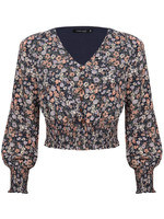 YDENCE TOP ELISE, DONKERBLAUW