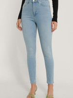 NA-KD SKINNY HIGH WAIST JEANS, DENIM