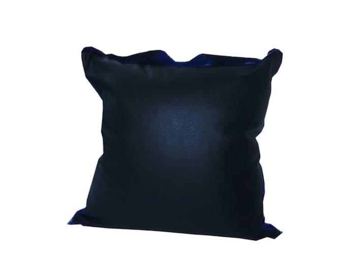 Springbockfell Kissen Blau