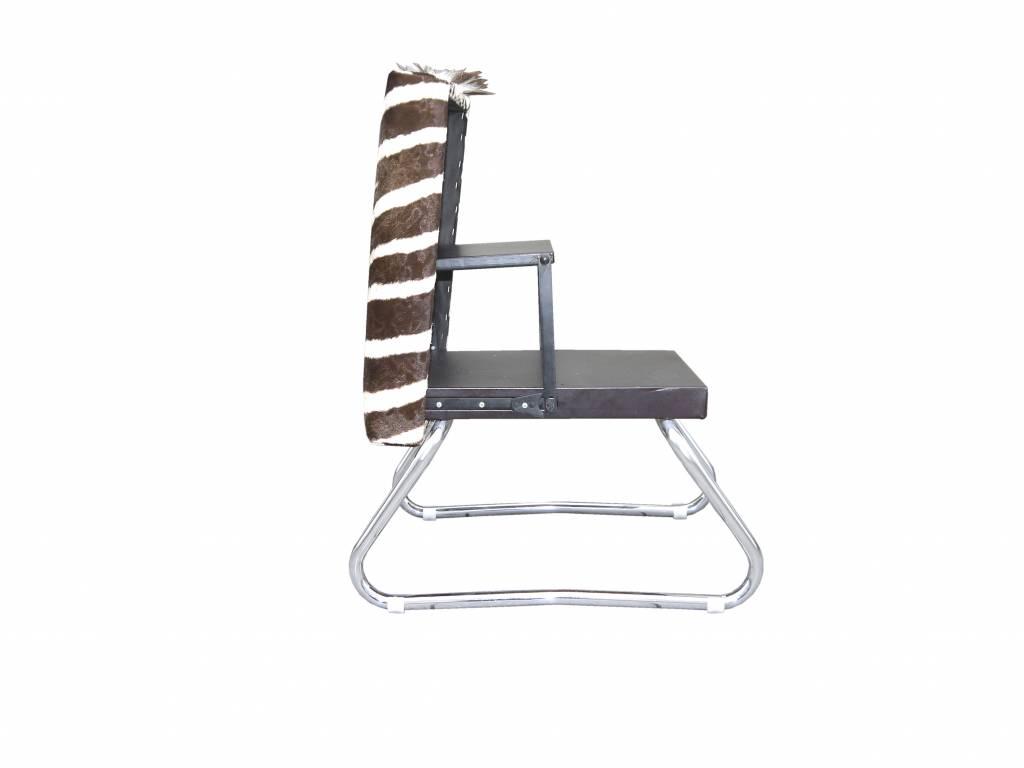 Zebra Hocker SAFARI, Klapphocker