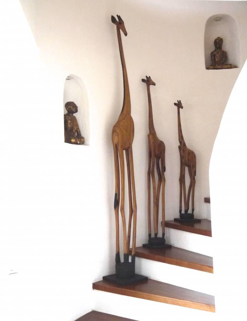 Holzgiraffe aus Afrika 140cm
