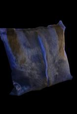Springbockfell Kissen Hellblau