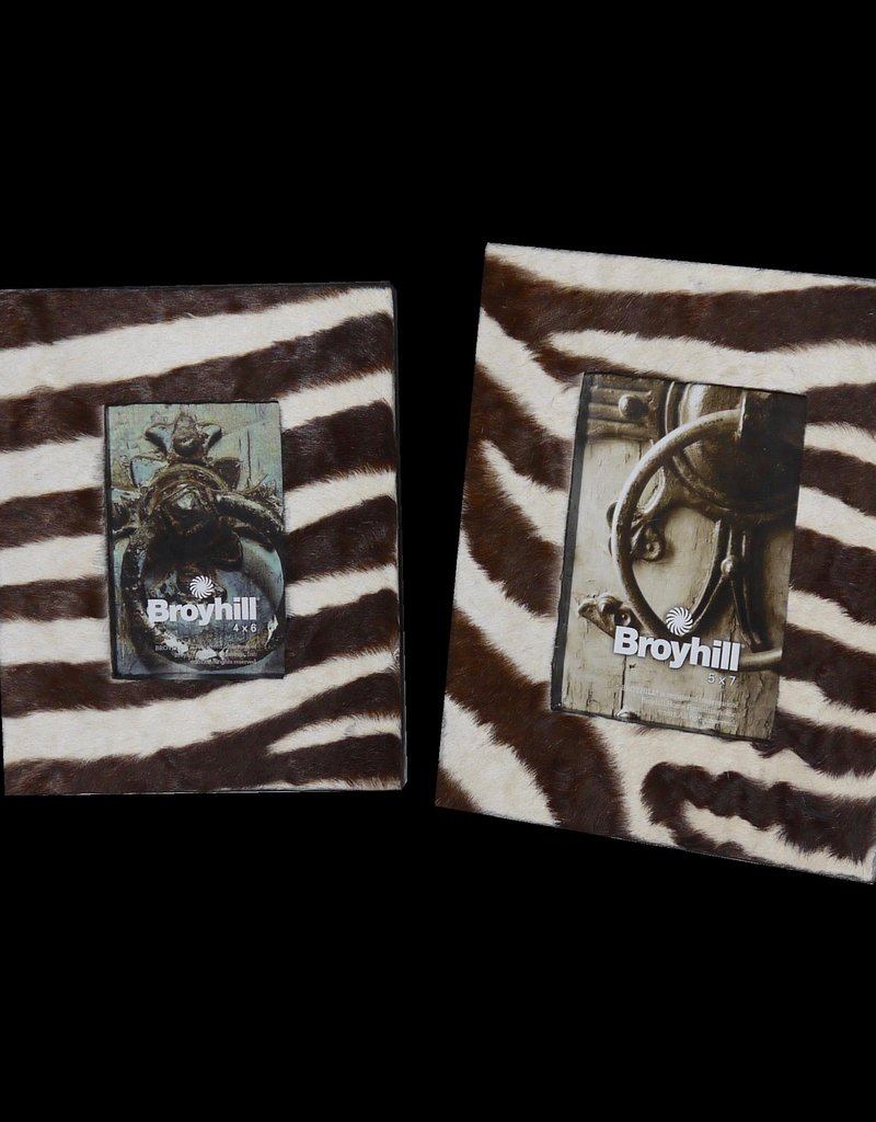 Dunkelbrauner Bilderrahmen aus echten Zebrafell BR040