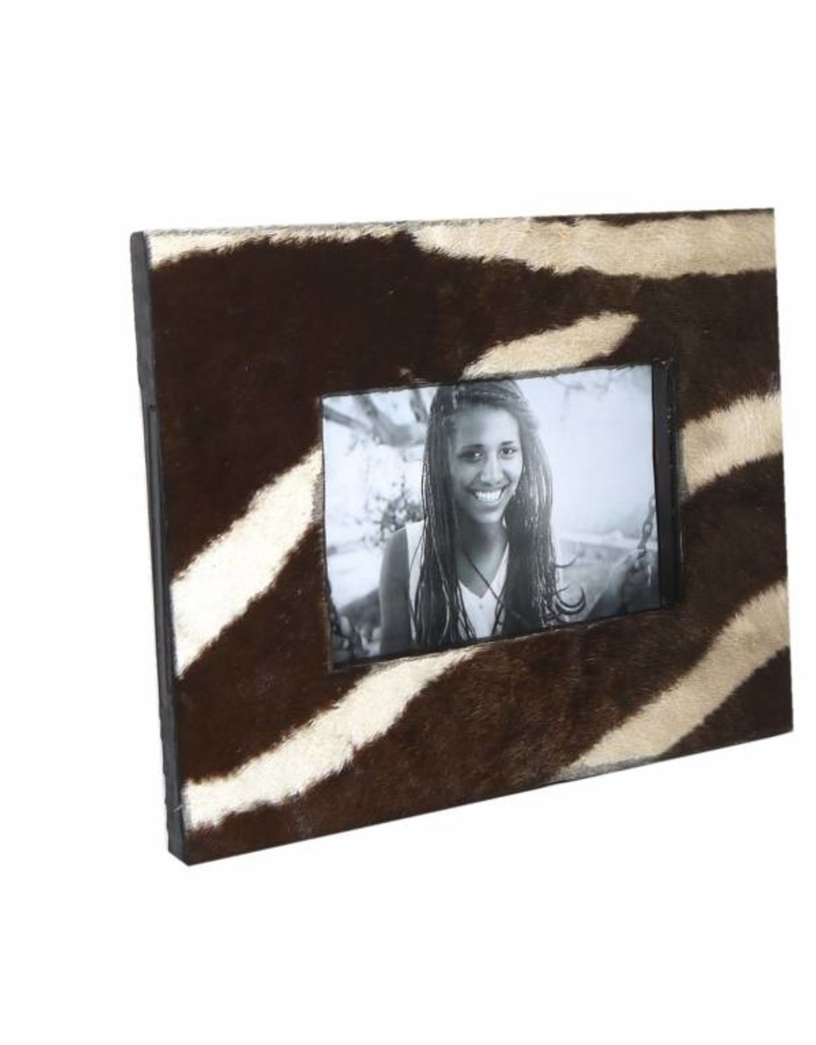 Dunkelbrauner Bilderrahmen aus echten Zebrafell BR037