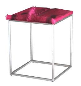 Springbockfell Beistelltisch Pink CUBE