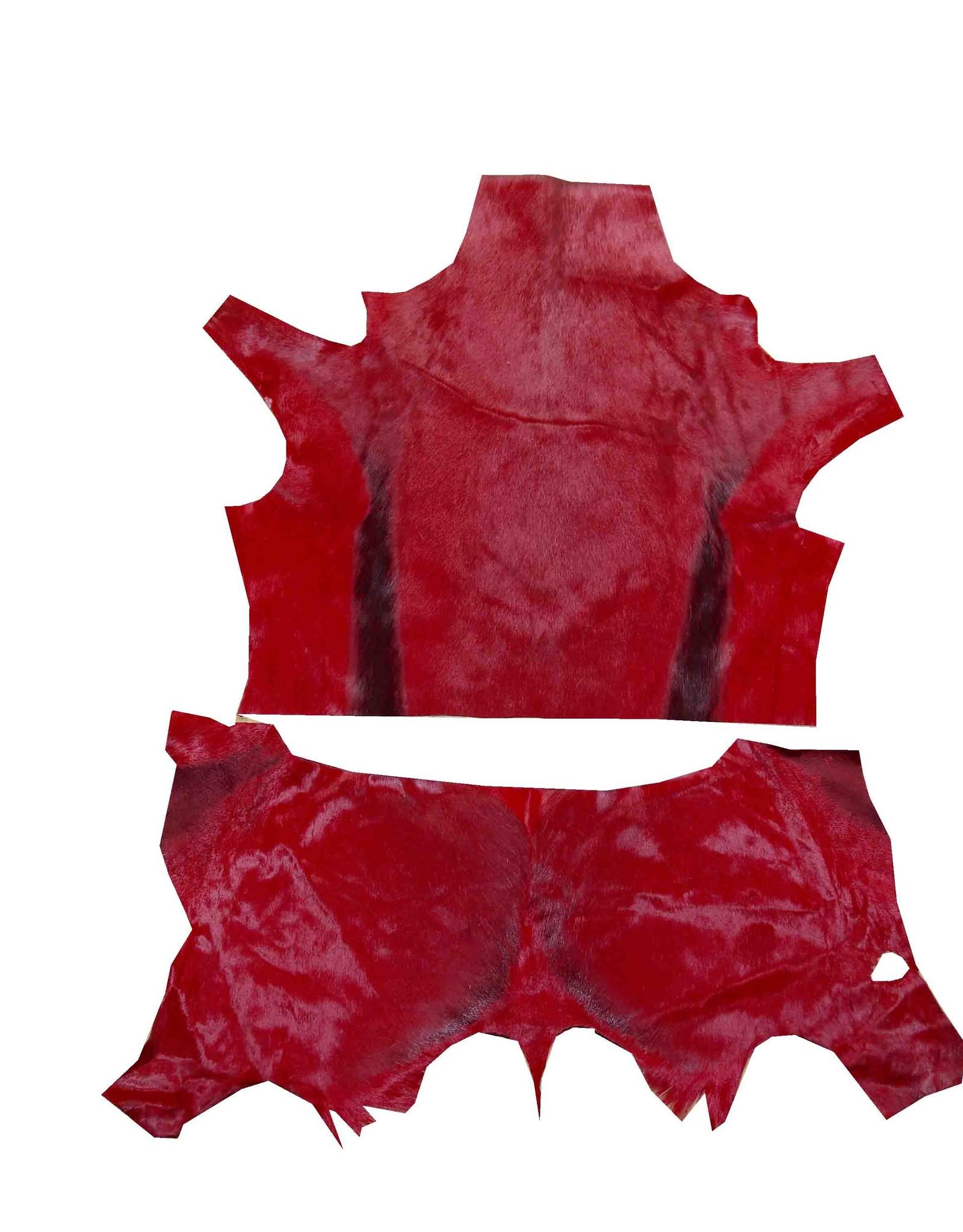Echtes rotes Springbockfell Reststück zur Weiterverarbeitung