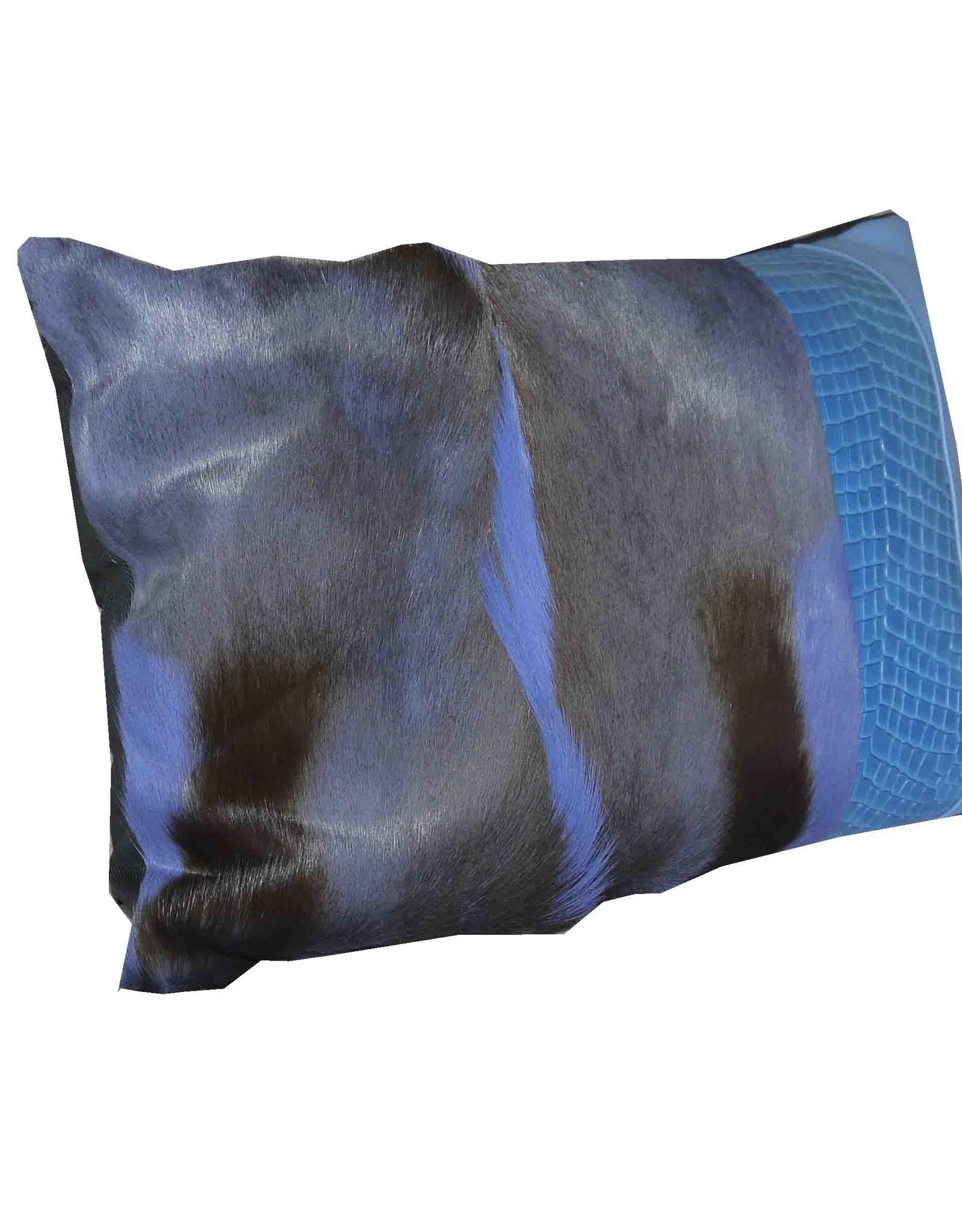 Designer Springbockfell Kissen Blau KD010
