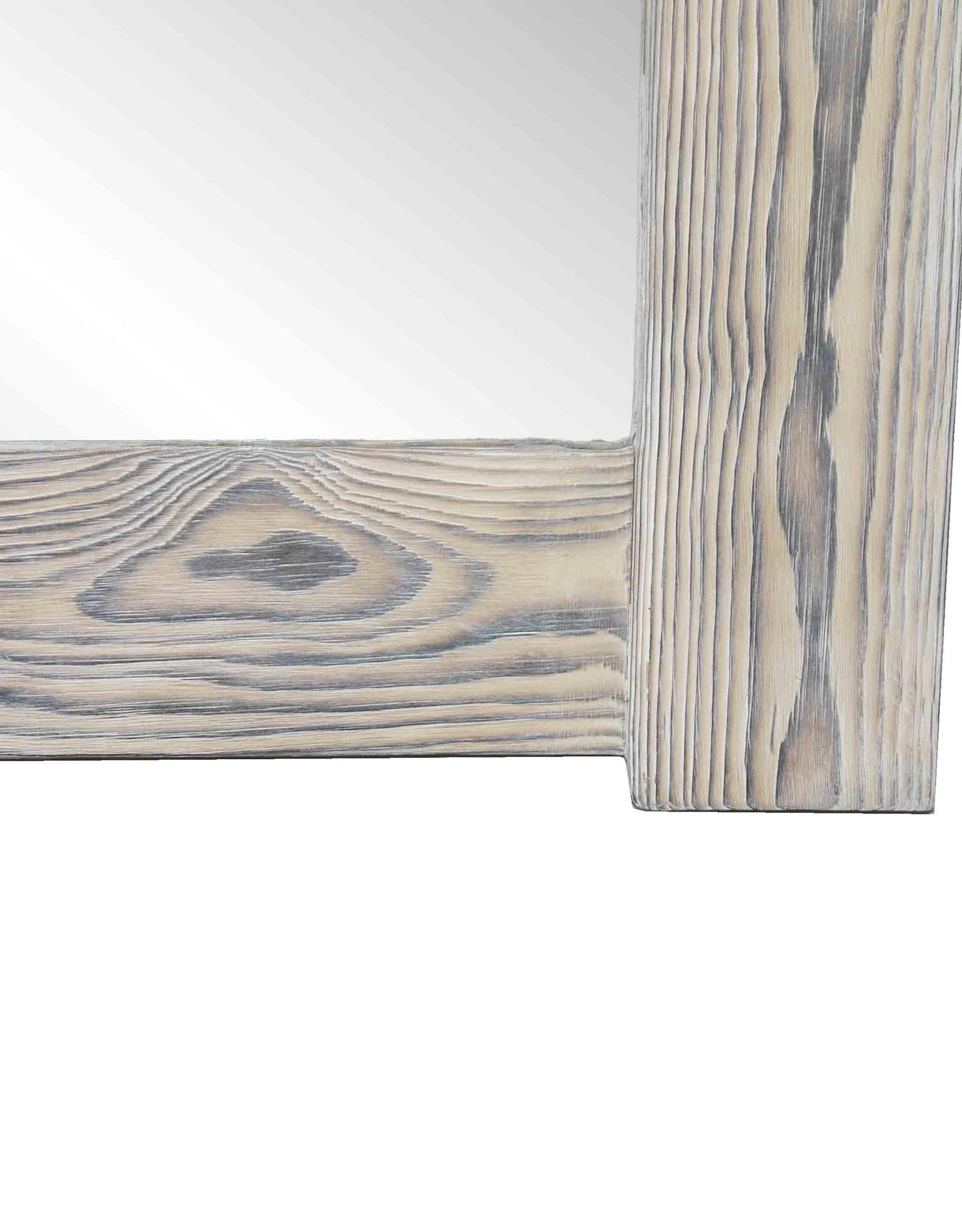 Flamed Wood Spiegel