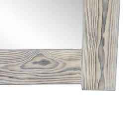 Flamed Wood Spiegel hell Grau