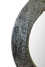 Shou Sugi Ban Spiegel / Flamed Wood Spiegel Rund