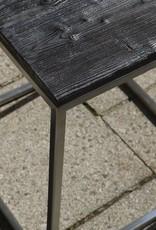 Flamed Wood Couchtisch Coffeetable Beistelltisch Cube