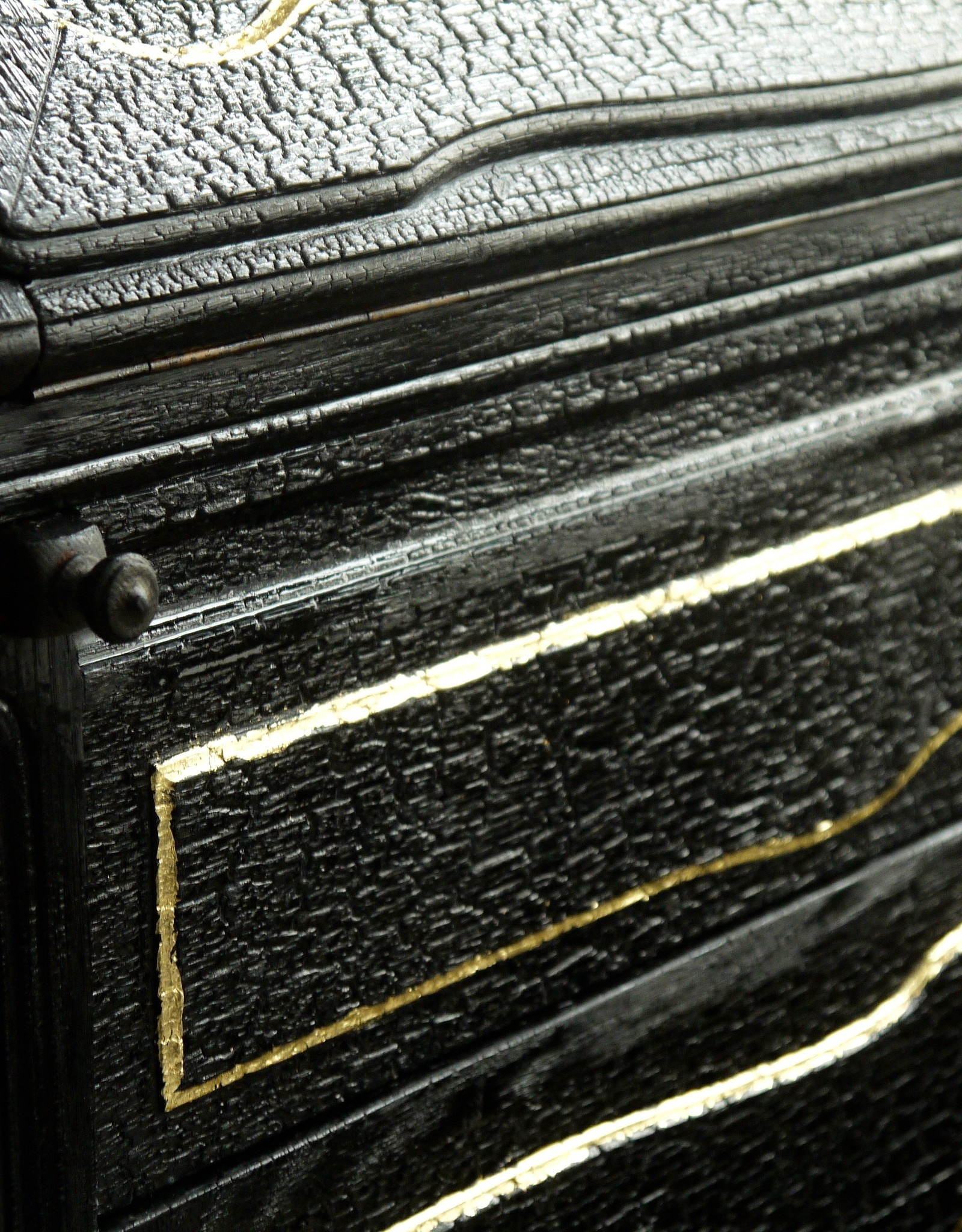 Shou Sugi Ban / Flamed Wood Kommode Schrank Black Lounge - Copy