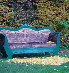 Outdoor Couch Flamed Wood