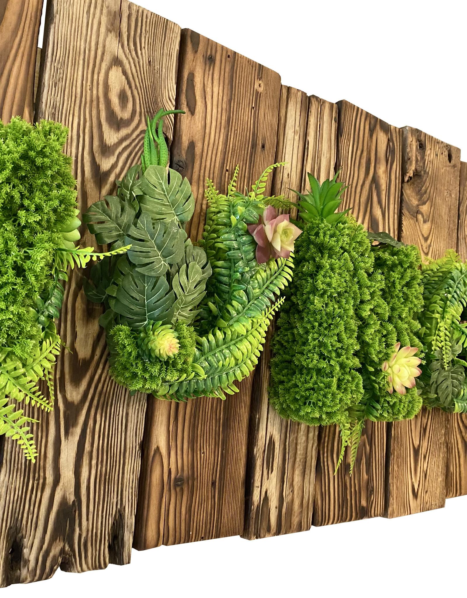 Jungle Bild auf abgeflammten Holz