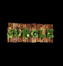 Jungle Bild  Flamed Wood