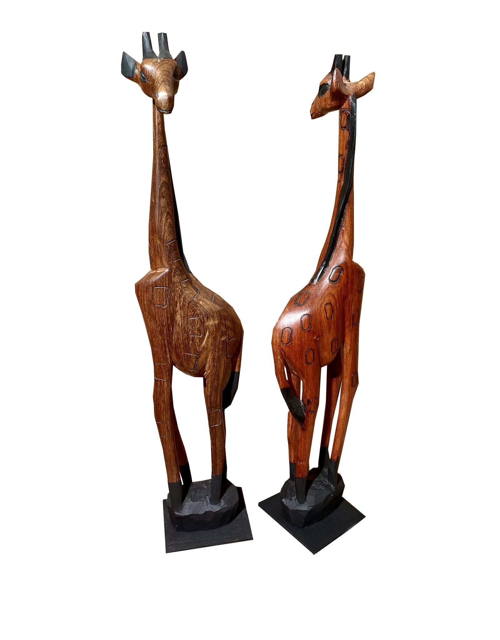 Holzgiraffe aus Afrika 60cm
