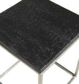 Flamed Wood  Couchtisch Black Cube Kroko