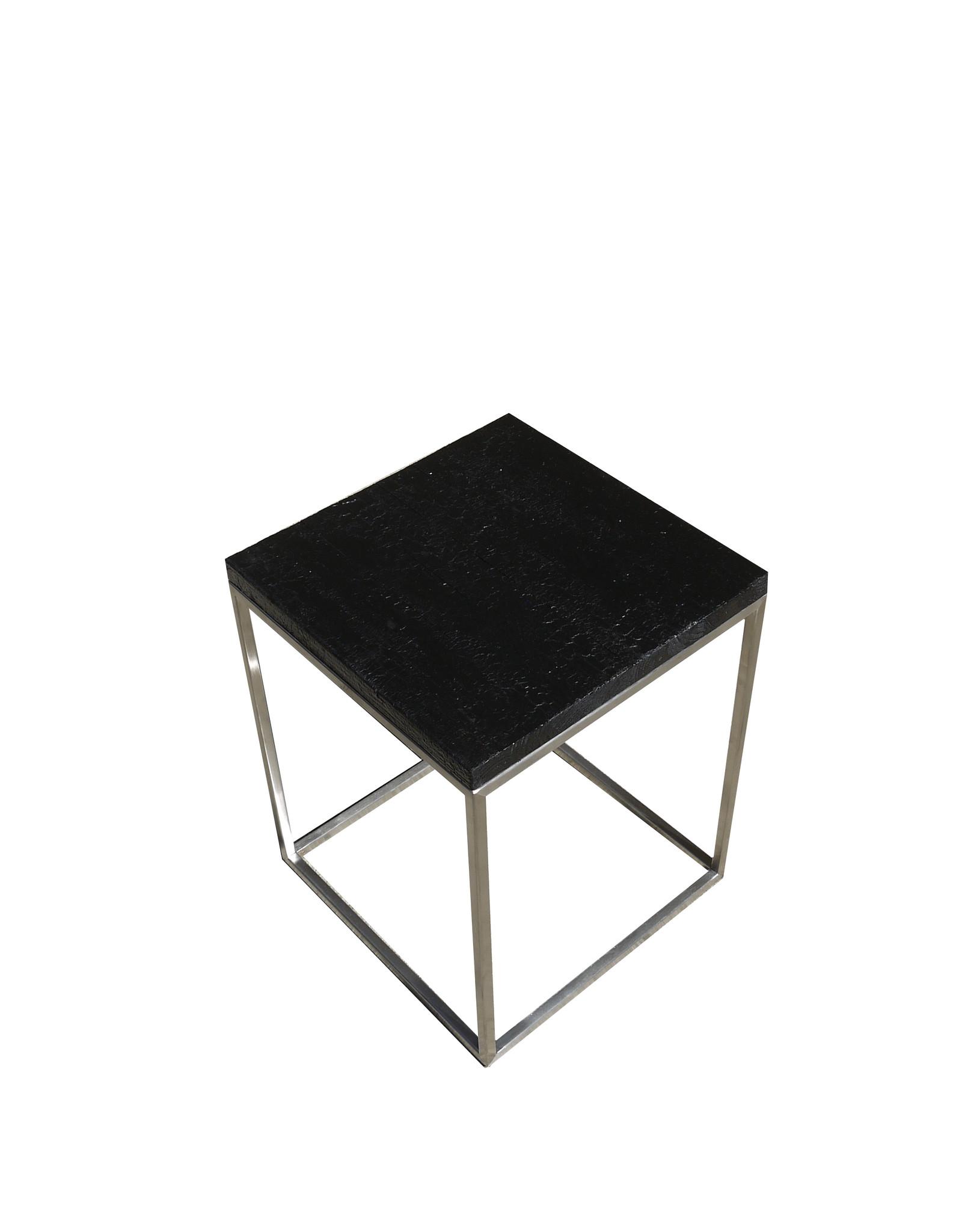 Flamed Wood Couchtisch Coffeetable Beistelltisch Cube  Kroko