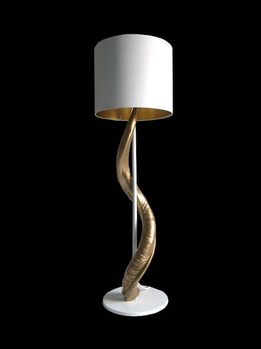 Kudohorn Lampe Gold / Weiß