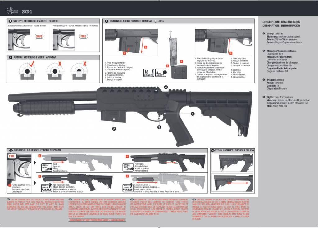 SG4 Federdruck Combat Zone Magazin für Softair