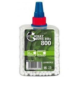 Combat Zone BB 0,12 grammes - 800 pièces - blanc