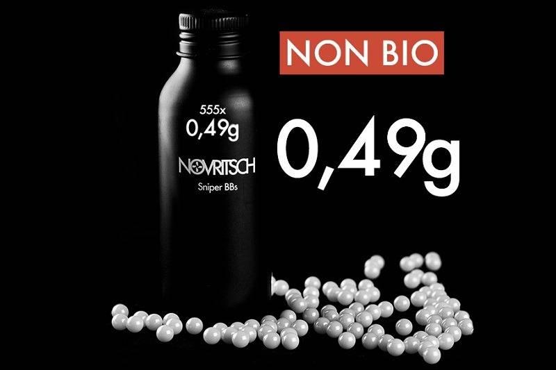 Novritsch 0.49g x 555pcs Sniper BBs - white - AirSoftArms ...