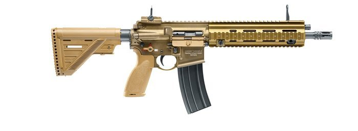 H&K 416 A5 AEG mit Mosfet - 1,30 Joule - dark earth - Semi only