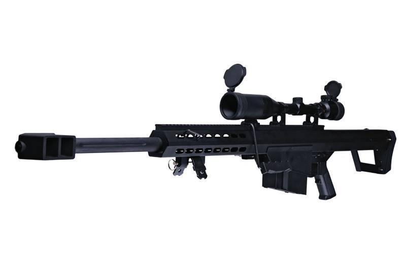 Snow Wolf SW-02A CQB Barrett M82A1 Sniper AEG Kit - BK