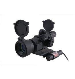 ACM Tactical Dot Sight Weaver with Laser - BK