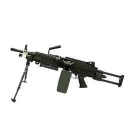 A&K LMG M249 Para AEG Machine Gun - BK