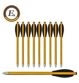 """EK-Archery Flèches X-Bow en aluminium avec boulon de 6.5 """"pour arbalète de pistolet - 10 pièces"""
