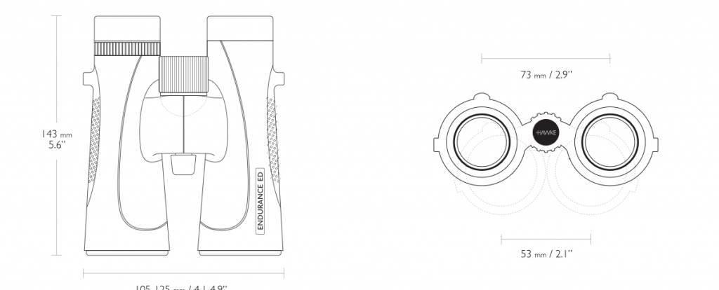 Hawke Endurance ED 10×42 Fernglas - schwarz