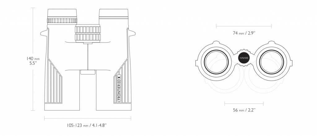 Hawke Frontier ED X 8×42 Fernglas - grün