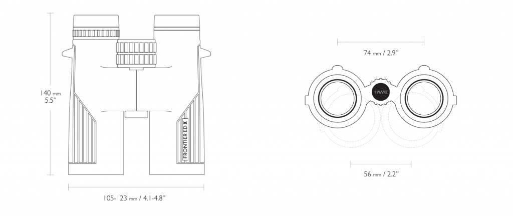 Hawke Frontier ED X 10×42 Fernglas - grau