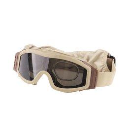 Valken V-TAC Tango Schutzbrille mit 2 Wechselgläser - TAN