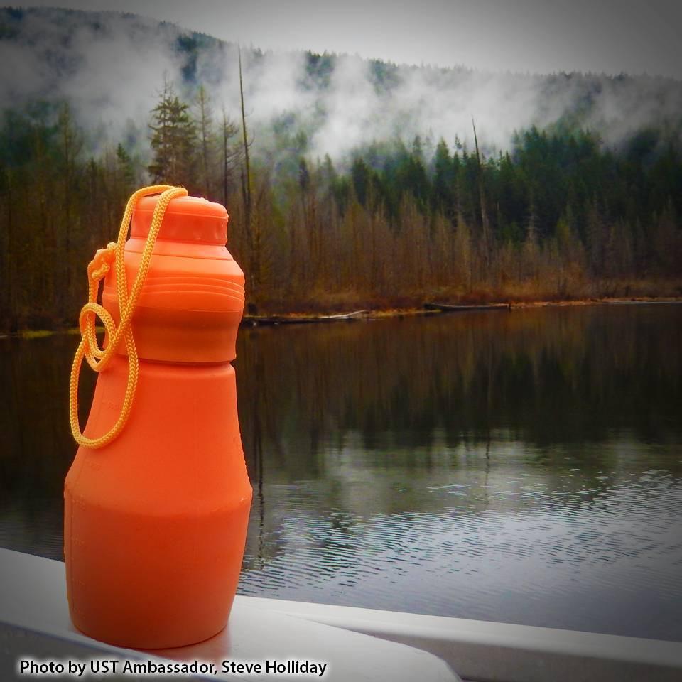 UST Brands FlexWare faltbare Trinkflasche 540ml - orange