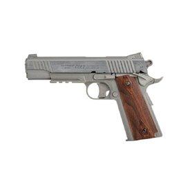 Colt 1911 Rail Gun Vollmetall Co2 NBB - 1,0 Joule - silber