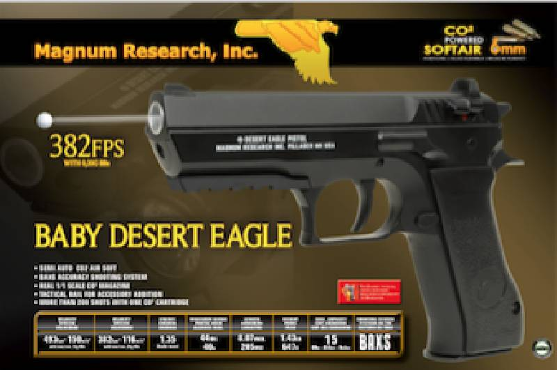 Kwc Baby Desert Eagle Co2 Nbb 1 2 Joule Bk Airsoftarms Tacstore