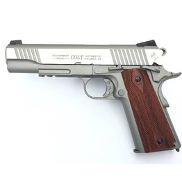 Colt 1911 Rail Gun Vollmetall Co2 GBB - 1,2 Joule - stainless