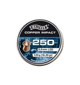 Walther Copper Impact Diabolos à pointe 5.5 mm 5 x 250 pièces