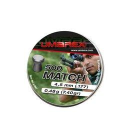 Umarex Match Diabolos à tête plate 4,5 mm - 500 pièces