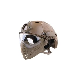 Ultimate Tactical modularer Helm - FAST Para Jumper Piloteer - TAN