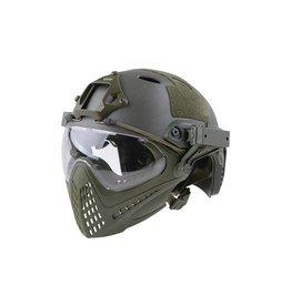 Ultimate Tactical Modular Helmet - FAST Para Jumper Piloteer - OD