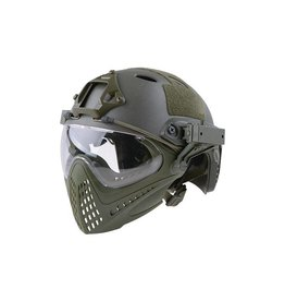 Ultimate Tactical modularer Helm - FAST Para Jumper Piloteer - OD